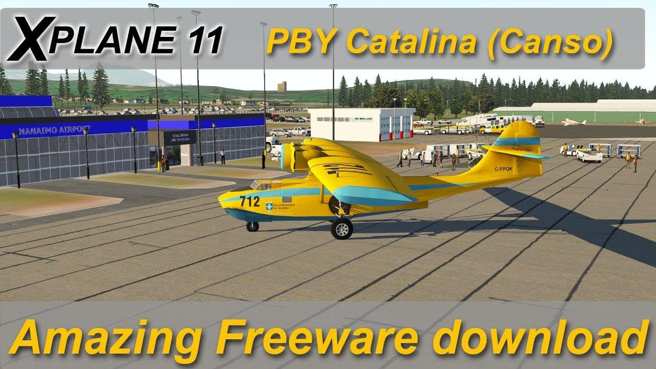 X-plane 11: PBY Catalina Amazing freeware aircraft (was payware)
