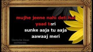 Mujhe Jeene Nahi Deti Hai Karaoke With Female Voice