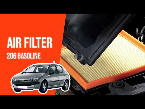How to replace the air filter PEUGEOT 206 1.4i 💨