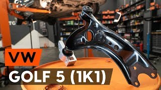 How to change front suspension arm / front control arm on VW GOLF 5 (1K1) [TUTORIAL AUTODOC]