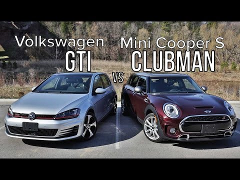 2016 volkswagen golf gti vs 2016 mini cooper s clubman. Black Bedroom Furniture Sets. Home Design Ideas