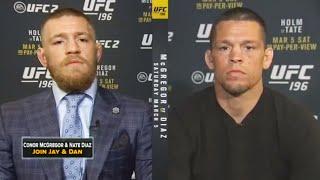UFC Press Conference Conor McGregor vs Nate Diaz Conor (McGregor and Nate Diaz join FOX Sports Live)