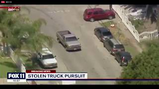 BREAKING: Stolen truck police chase in Los Angeles area