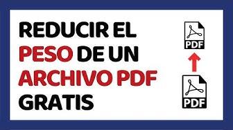 ? Cómo Reducir el Peso de un Archivo PDF 2020 Sin Programas (Smallpdf)