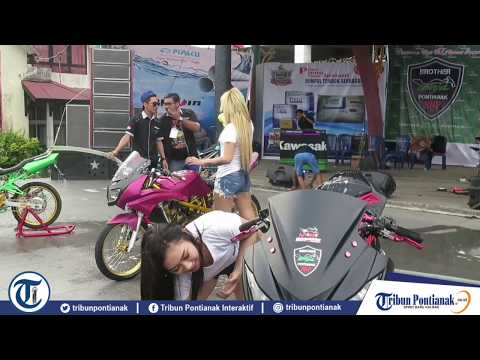 Ladies Bike Wash Meriahkan 1st Anniversary Brother Ninja Pontianak