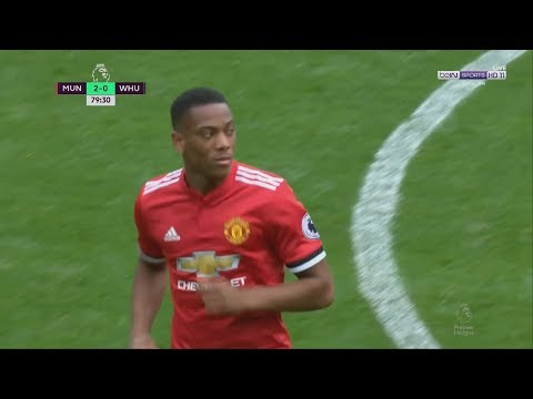 Anthony Martial vs West Ham (H) 17/18