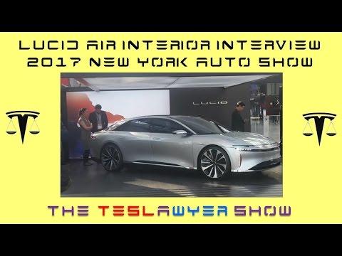 Lucid Air Interview of Doreen Allen and Joann Jung at New York International Autoshow 2017
