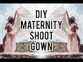Fashion DIY | NO SEW Maternity Shoot Gown