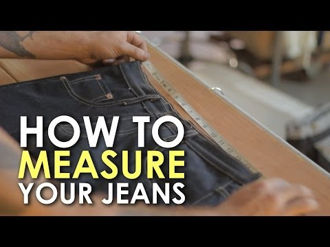 RAW DENIM: How to Measure Your Jeans | The Art of Manliness