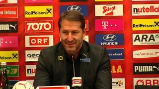 Pressekonferenz des ÖFB: Teamchef Foda nach Nordirland - U21 vor Griecheland-Rückspiel