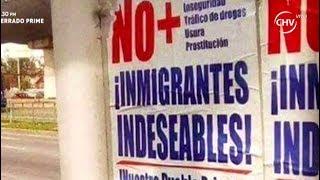 Aparece afiche contra extranjeros en Chile - La Mañana