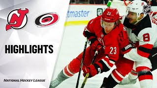 NHL Highlights | Devils @ Hurricanes 11/02/19