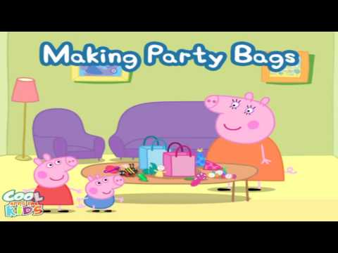 Peppa Pig's Party Time - Help Peppa make party bags for her party!!