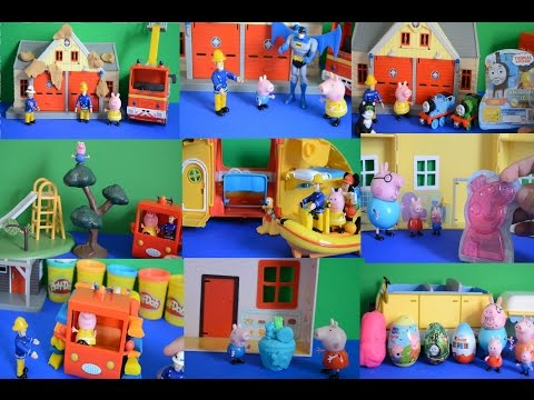 10 Peppa Pig Full Episodes Fireman Sam Batman Play-Doh Compilation Thomas and Friends