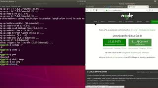 nodejs install on Ubuntu 18.04