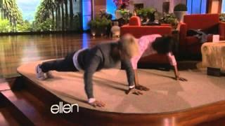 Michelle Obama on Ellen: TV push-up competition with Ellen DeGeneres