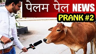 FAKE NEWS REPORTER PRANK | PELAM PEL NEWS | PRANKS IN INDIA | NatKhat Shady