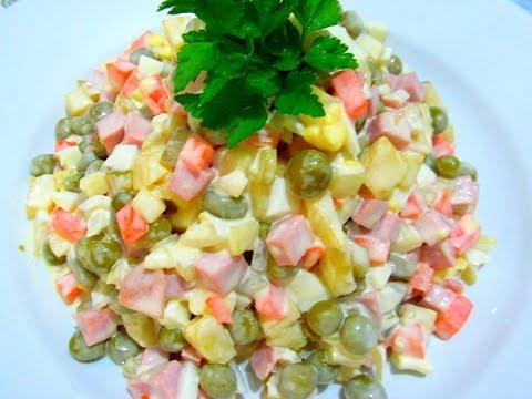 пошаговым фото с салат новогодний оливье