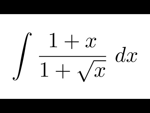 Integral of (1+x)/(1+sqrt(x)) (substitution)