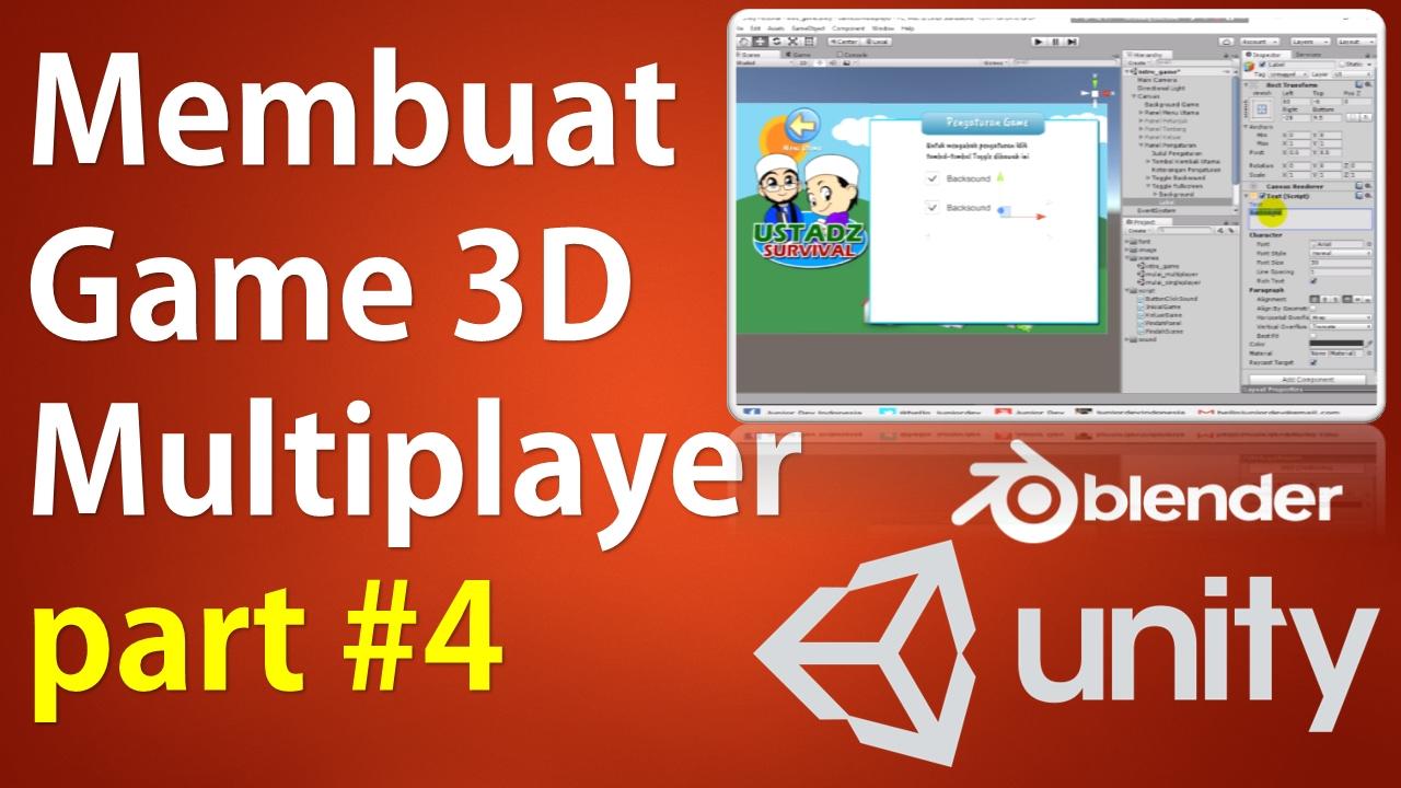 Membuat Game 3D Multiplayer Unity & Photon (Part 4 / 33