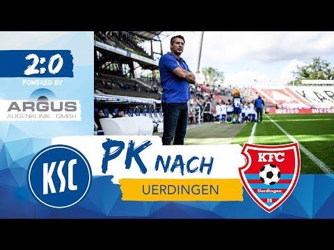 KSC-Pressekonferenz nach Uerdingen