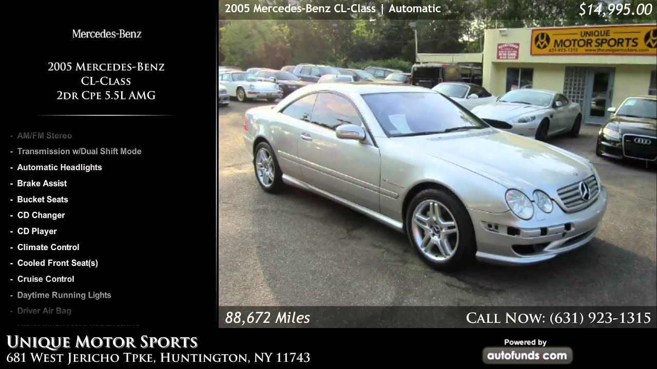 Used 2005 Mercedes-Benz CL-Class | Unique Motor Sports ...