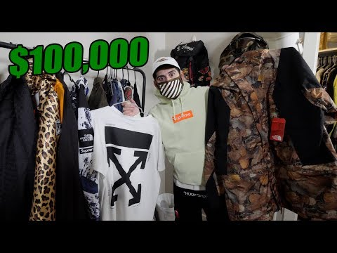 MY ENTIRE HYPEBEAST COLLECTION! (BEST ON YOUTUBE?!!)