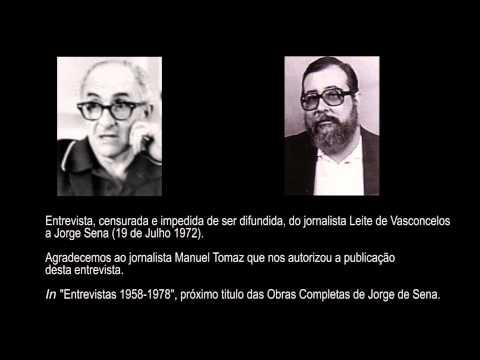 Entrevista, do jornalista Leite de Vasconcelos a Jorge de Sena