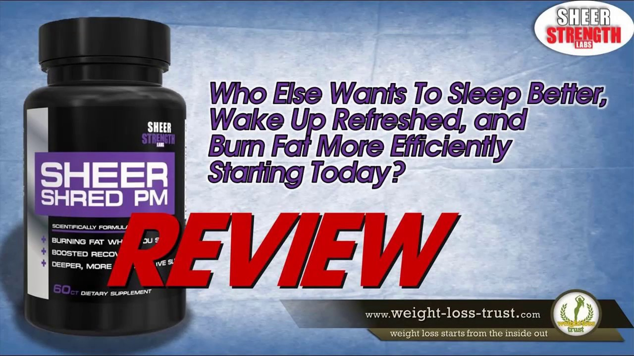 Sheer SHRED PM Nighttime Fat Burner and Sleep Aid ...