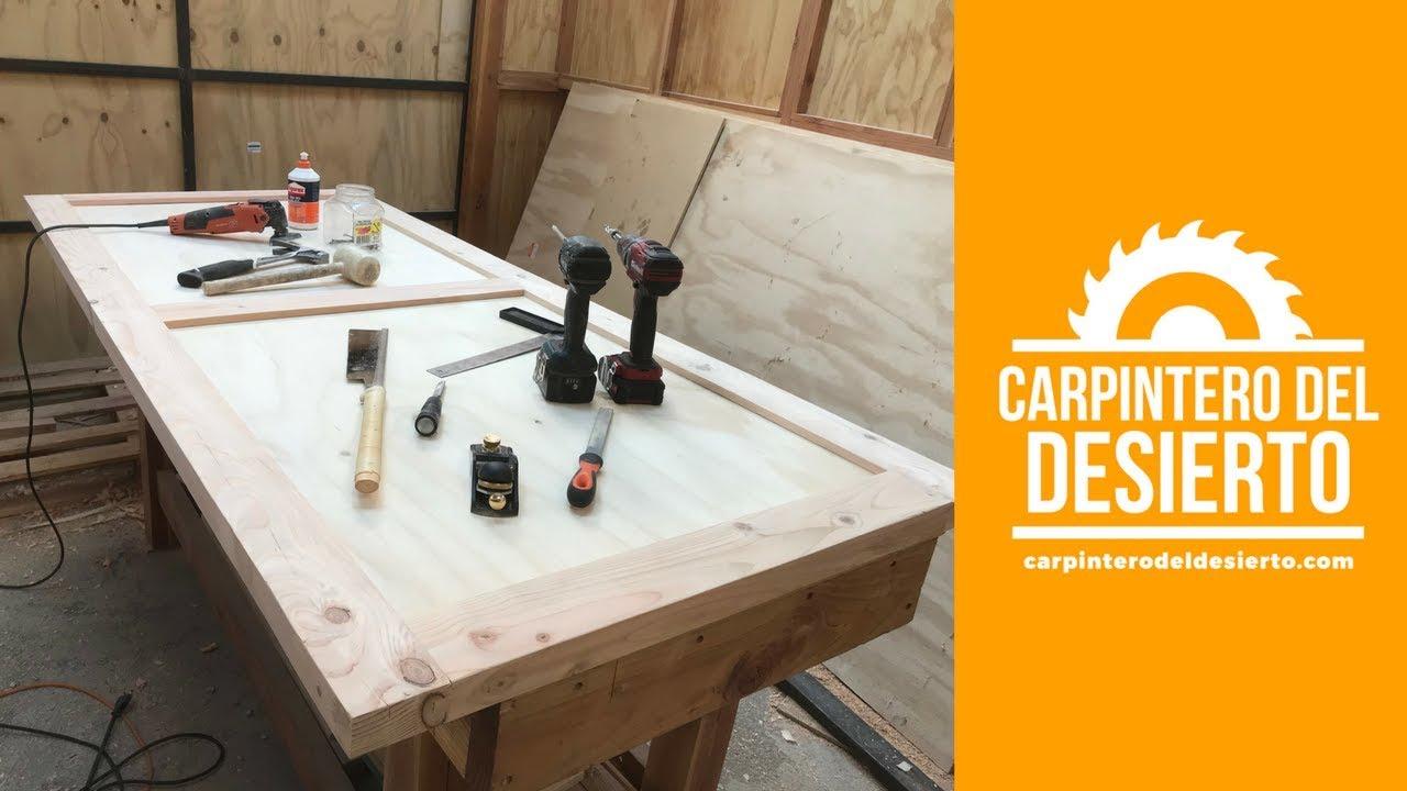 Como hacer una puerta de madera carpinter a youtube for Como hacer una puerta de madera