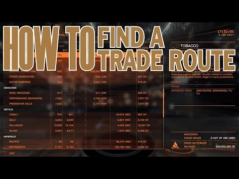 Elite: Dangerous. How to find a trade route