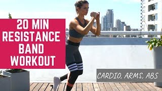 20 Minute Full Body Blast Workout with Resistance Bands (Beginner and Advanced Options)