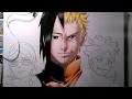 Drawing Naruto & Sasuke,Boruto & Sarada-speed drawing Naruto Shippuden(Boruto:the next generation)