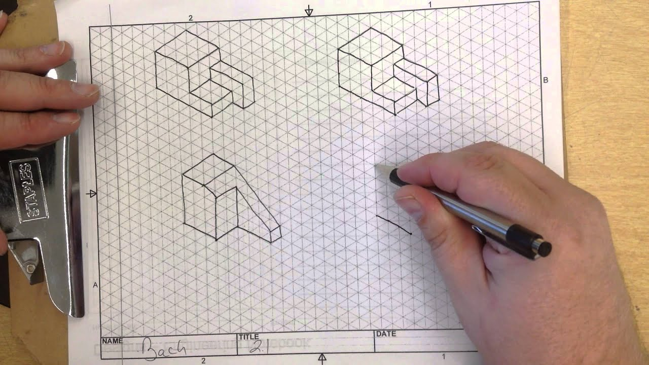 IED Activity 2.1 Isometric sketching 1 - YouTube