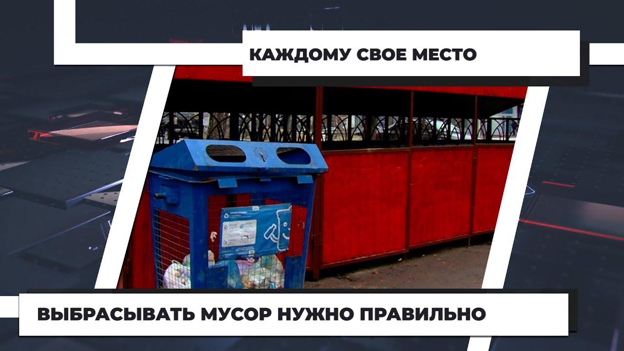 Выбрасывать мусор нужно правильно