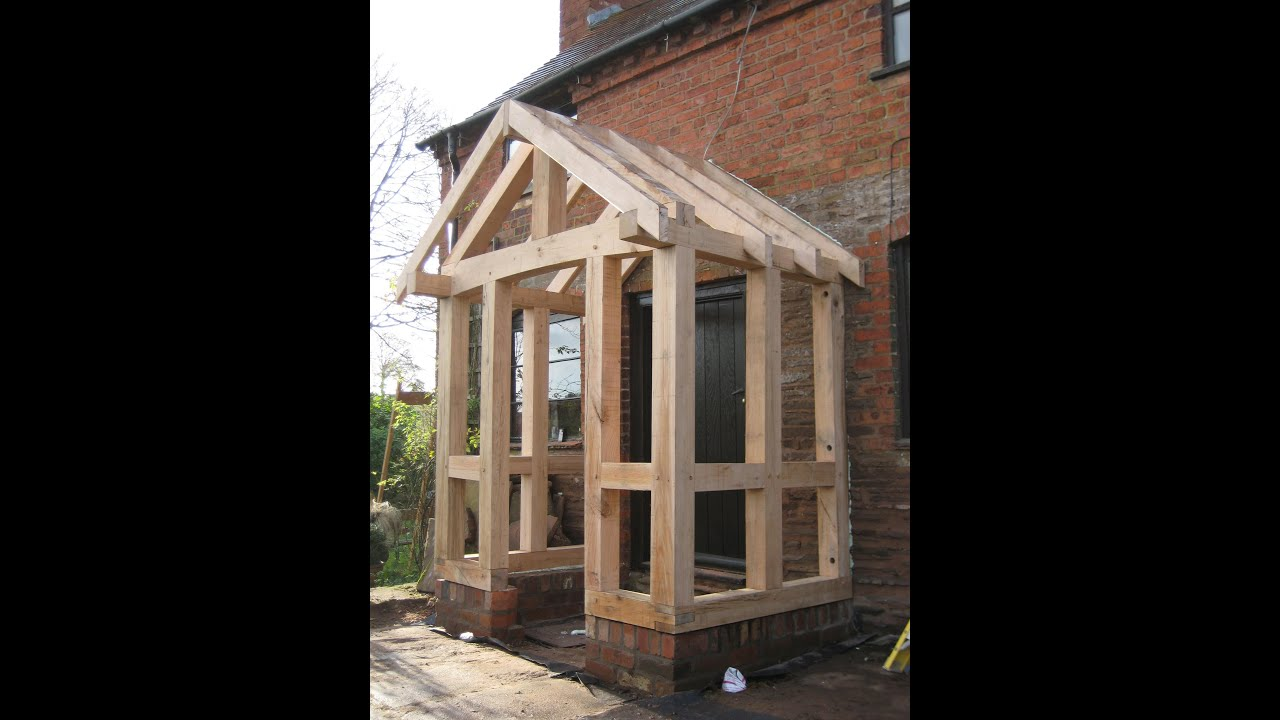 Timber frame porch youtube for How to build a timber frame house