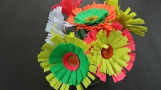 Paper Flower Tutorial:  How to make Quilling Paper Flower.
