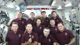 President Obama Speaks with Shuttle, ISS Crews