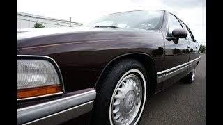 4K Review 1994 Buick Roadmaster Limited Sedan Burgundy Virtual Test-Drive & Walk-around