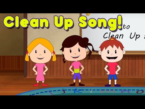 Clean Up Song for Children  Kindergarten and Preschool Song  ELF Learning