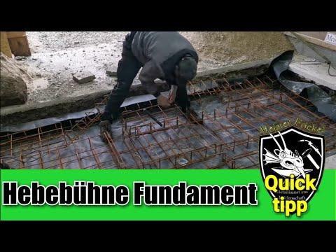 Berühmt Hebebühne Fundament selber machen - YouTube KX57
