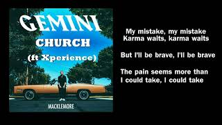 Church - Macklemore (ft Xperience) Lyrics