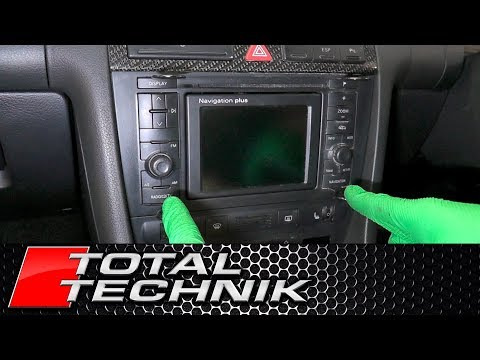 How to Remove Sat Nav RNS-D - ALL Audi Models - A2 A3 A4 A6 - TOTAL TECHNIK