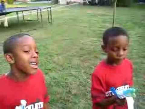 Two Little Boys Singing Gospel