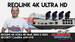 Gambar cover Reolink 4K Ultra HD (8MP, 3840 x 2160) security camera and NVR