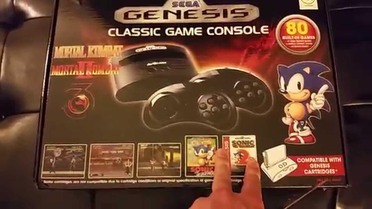 Sega genesis classic game console 80 games unboxing - Sega genesis classic game console games ...