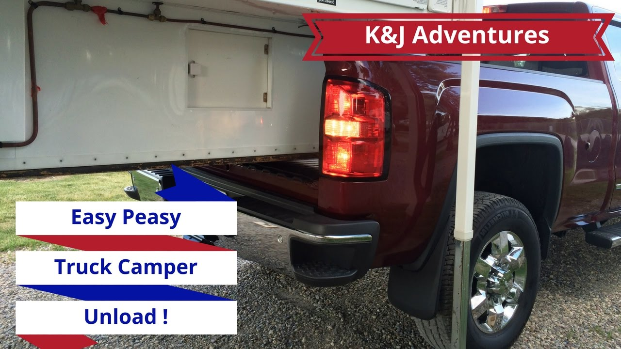How To Unload A Truck Camper