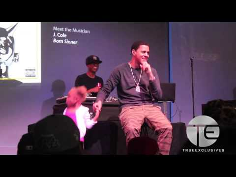 Little Girl Gets On Stage As J. Cole Performs