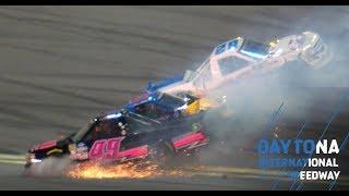 Big Wreck Involving Three Trucks In Stage 2 At Daytona