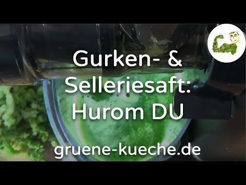 Hurom DU Slow Juicer - Staudensellerie und Gurken entsaften (Teil 2/6)